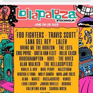 Söker biljetter till fredagen eller hela helgen av lollapalooza en eller två biljetter!!!!