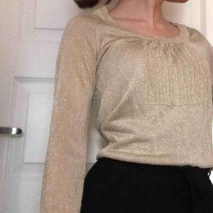 Guld/silvrig tröja i storlek L, men passar mig som har storlek XS/S i det mesta. Aldrig använd förutom vid fotograferingen, fint skick. Perfekt till fest