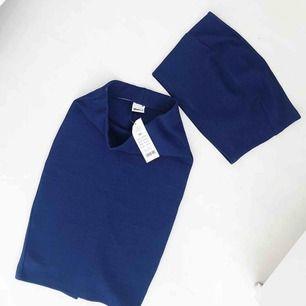Jättesnyggt mörkblått set från GinaTricot topp+kjol, prislapp kvar, fraktar endast🌸🌸