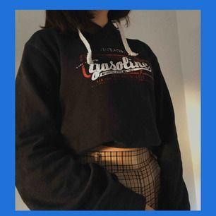 en vanlig hoodie, frakt är redan inräknat! tröjan är mörkblå, men ser svart ut på de två första bilderna :).