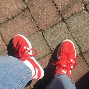 Säljer mina röda adidas campus skor! Storlek 40 och är i fint skick✨✨ Köptes för 899kr men säljs för 350kr + frakt