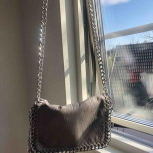 Väldigt fin och rymlig väska, ett fack inuti och även på baksidan. Dragkedjan funkar perfekt och väskan aldrig är använd. Köpt på scorett! 🌸