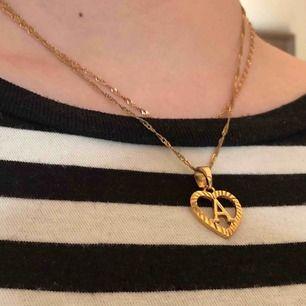 Fint guldpläterat halsband, frakten ingår! (Obs. ingen dubbelkedja)