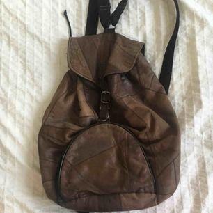 Brun vintage ryggsäck! 🎒