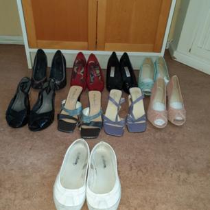 Dam skor st 37/38 bra skick vissa knappt använda 100kr för alla 9 stycken