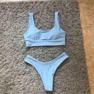 Superfin ljusblå bikini från Zaful, fint skick då den är använd endast 1 gång, frakt tillkommer på 9kr