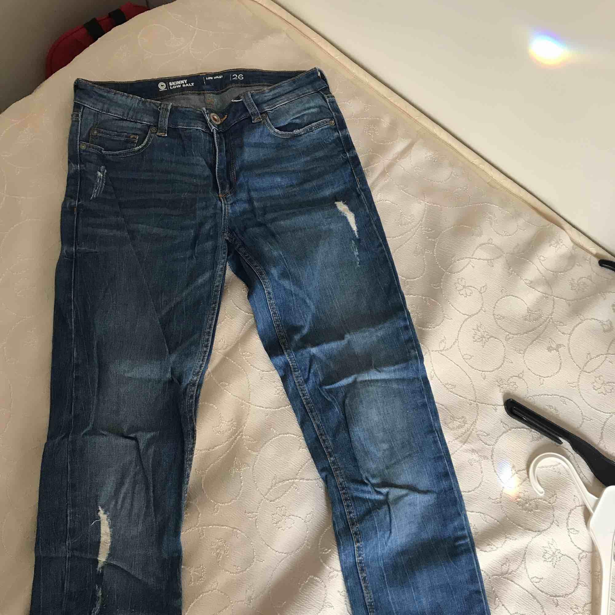 Skinny low waist jeans från Gina , är öppen för alla prisförslag kan skicka fler bilder oxå. Jeans & Byxor.