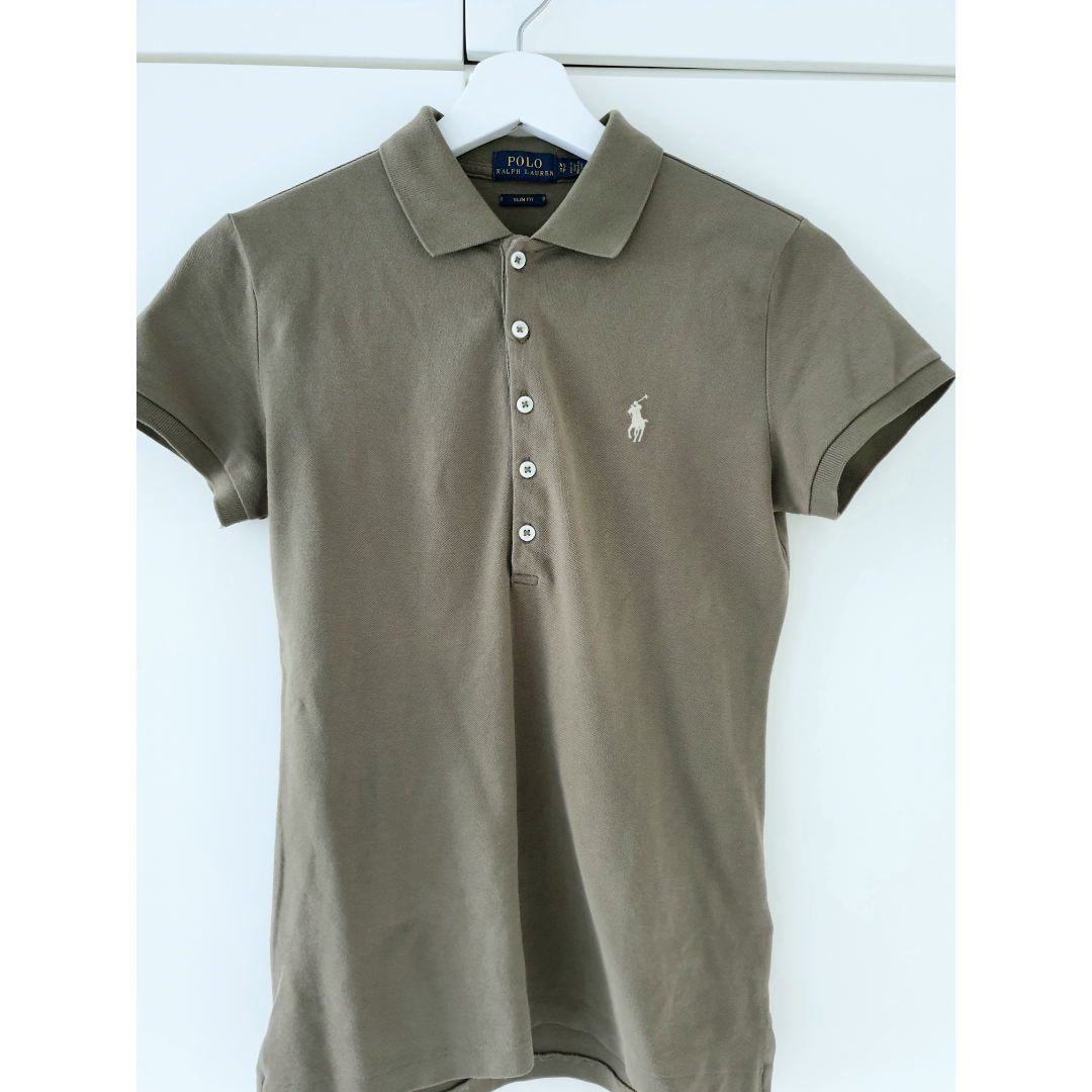Polo Ralph Lauren T-shirt for sale. Army green color, slim-fit, XS. Great condition, as new!. T-shirts.
