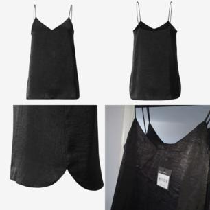 Nytt svart linne från Åhléns. Storlek 34/small. Lapparna kvar, nypris 299kr. Frakten betalas av köparen, 18kr.