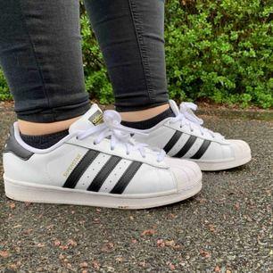 Äkta Adids superstar skor i bra skick! Kan tänka mig att gå ner lite i pris vid snabb affär.