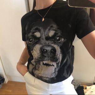 En T-shirt från Givenchy som har bleknat i bak på kragen</3 syns inte alls när man använder men därav lågt pris...