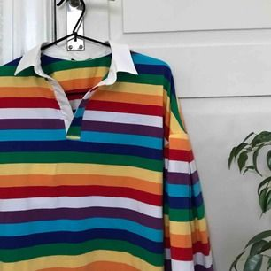 Randig tröja i bomull från Shein. Mjukt och skönt material, använd vid ett tillfälle.
