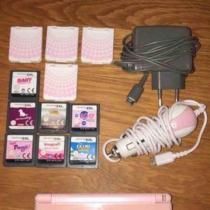 Nintendo ds jag köpte till dottern men den va för svår att förstå sig på komplett m laddare 7 spel