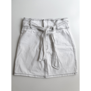 White Denim Skirt from Forever21. Size is S/M, so more on a bigger S-size.