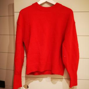 Röd stickad tröja från h&m