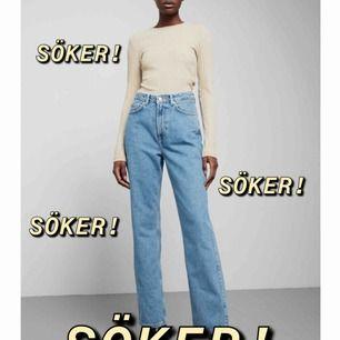 """SÖKER! Weekday jeans """"ROW"""" i färgen sky blue Storlek: W29 L30 eller L32 Hör av dig!💫"""