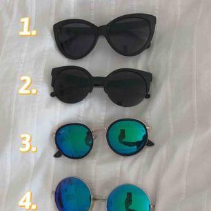 Säljer några solglasögon som jag inte längre använder. 50kr/st (frakten redan inkluderad) eller 140kr för alla (frakten redan inkluderad)