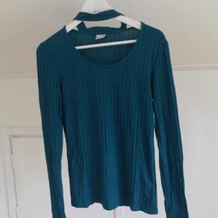Långärmad tröja från Gina Tricot, mer grönblå i verkligheten!