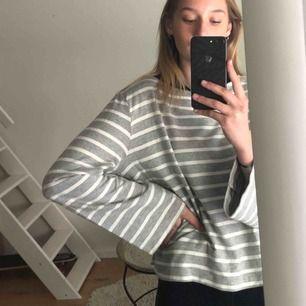 Fin tröja köpt på hm med vida ärmar! Inte använd alls mycket eftersom har två likadana 👍🏼 märkt storlek M men passar mig som vanligtvis har S. Eventuell frakt står köparen för👍🏼