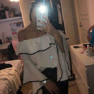 En jättefin offshoulder tröja från Zara, på första bilden så ser man hur lång tröjan är på ett ungefär och på andra bilden så ser man hur jag föredrar att ha tröjan!!💘