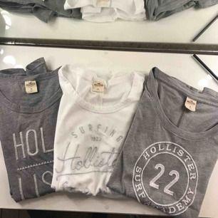 Tre t-shirts från Hollister, alla för 240 kr inkl. frakt