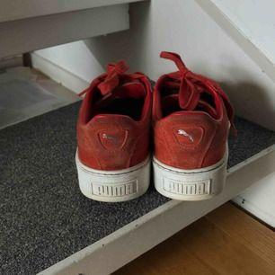Puma Suede Platform sneakers :) Använda några gånger men i mkt gott skick! Är lite stora på mig som vanligtvis har storlek 39. Frakt: 70kr