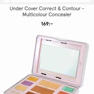 Undrecover correct & contour/concealer Bara använd några gånger de två bruna contour färgerna, testad concealer. De andra är bara swatchade på hand förutom den gröna och gula aldrig använd