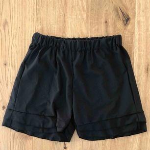 Shorts och topp. Köpta separat men går att använda tillsammans. Samma material och svarta färg. Toppen är knyte och jättefin men för stor för mig. Passar M-XL. Säljer allt pga flytt. Shortsen passar XS-M. Aldrig använt!