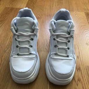 Skitsnygga Chunky sneakers, står stl 38 men dem är rätt små i stl så skulle säga att dem passar en 37 bättre. Dem är använda tre gånger så i nyskick. Önskar dem passade mig bättre.