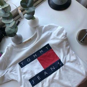 FAKE t-shirt med Tommy Hilfiger tryck i bra skick. Köpt här på plick. Köparen står för frakt annars möts vi upp i Örebro.