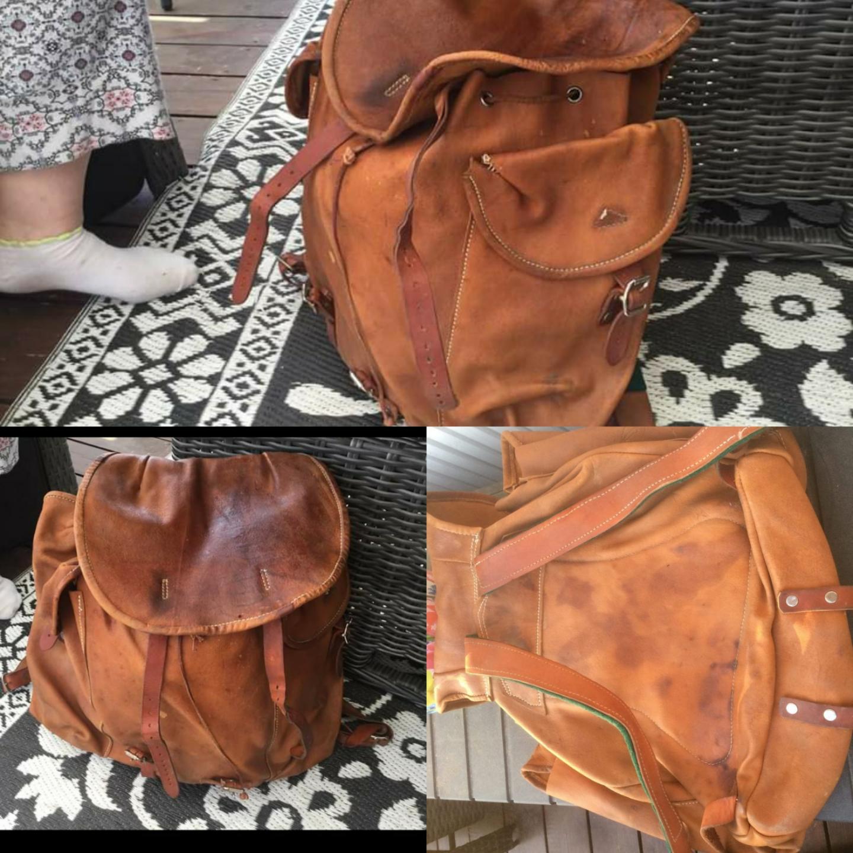 Renskinn ryggsäck . Väskor.