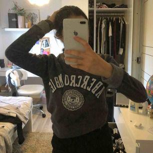 Sweatshirt från Abercrombie & fitch i färgen grå. Kan fraktas!☺️💘