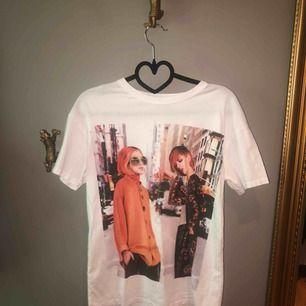 T shirt med tryck från zara