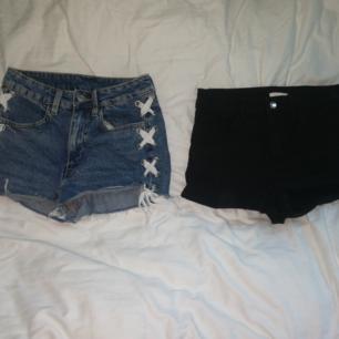 Två par shorts i bra skick, bägge inköpta förra sommaren. 80kr för båda eller 50kr för en!💞
