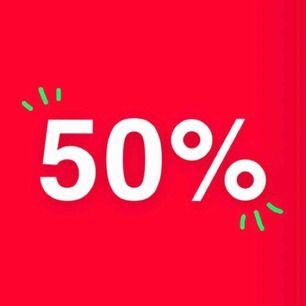 50% rabatt på slutpris vid köp av 2 eller fler plagg! (urspr. pris + fraktkostnad)