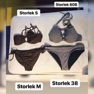 Bikinis i olika storlekar, former och färger. Varje del kostar 30kr