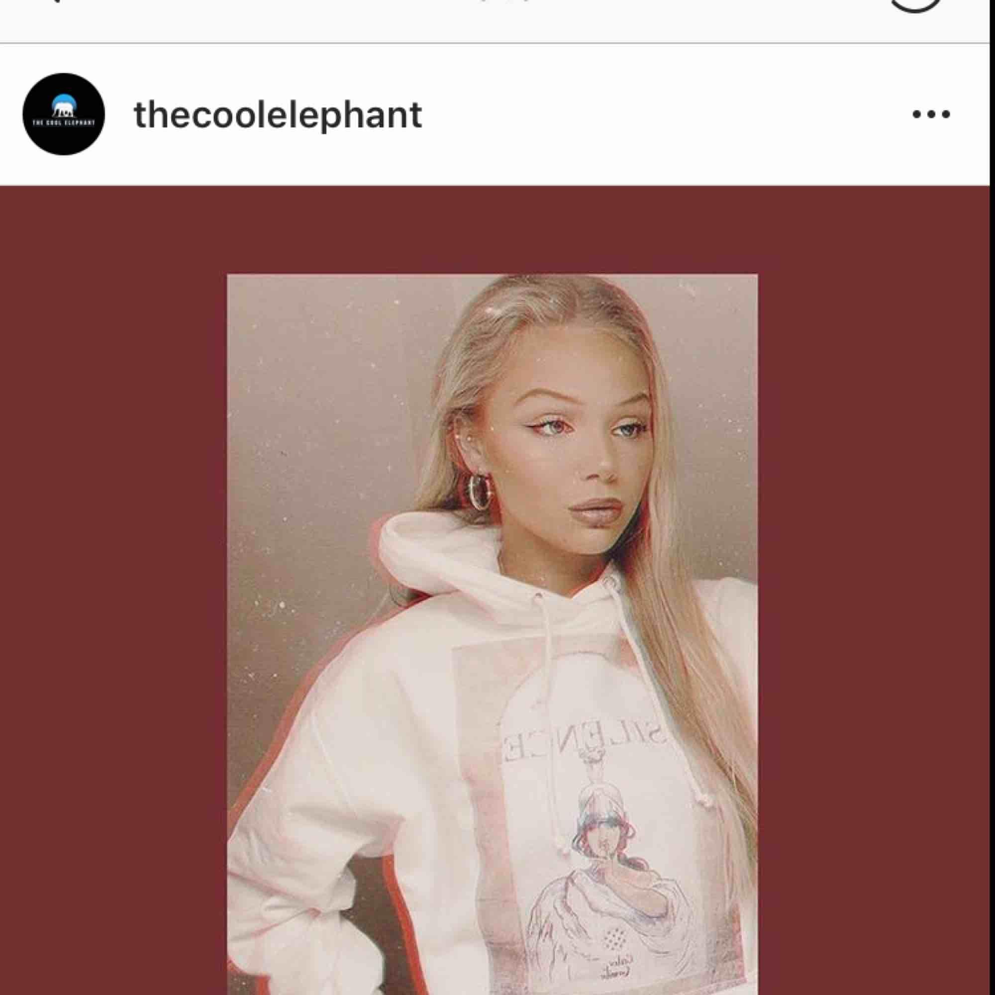 Helt oanvänd hoodie från The Cool Elephant. Säljer pga har en till exakt likadan. Priset är inklusive frakt! Storlek XS men sitter som S. Nypris: 700kr. Huvtröjor & Träningströjor.