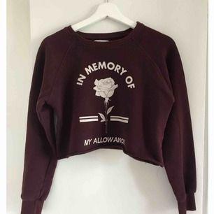 Vinröd croptop tröja i storleken S från Pull&bear. Bra skick.
