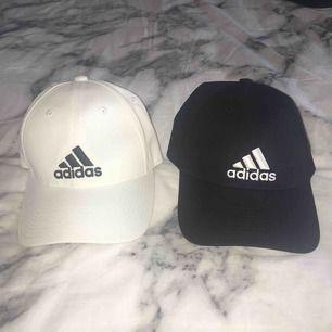 Två oanvända Adidas kepsar som är i väldigt bra skick. De är ONE SIZE och man kan justera kepsen där bak efter önskad passform. Säljer på grund av att jag aldrig har och kommer att använda dom. Båda två för 150 eller en för 100 kr. Frakt tillkommer.