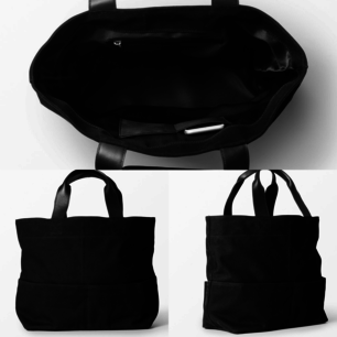 Helt ny svart större väska i bomullscanvas från Wera. Handtag i skinn. Aldrig använd med lappen kvar. Höjd 37cm, 51cm med handtag. Djup 17. Nypris 799kr. Frakt ingår i priset.