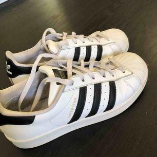 Adidas Superstar, använda ganska mycket men fortfarande fräscha!! Köparen står för frakt!