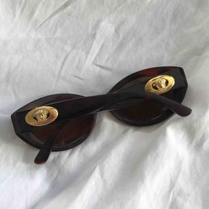 GIANNI VERSACE äkta 1990 bruna sköldpadd vintage solglasögon ✨ Frakt 25kr