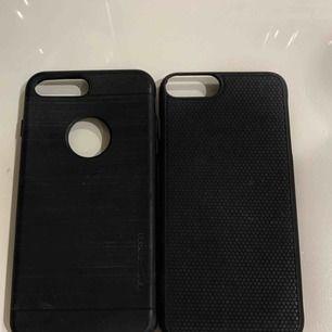 Säljer mina två svarta silikon skal till iPhone 7+ då jag bytt telefon. 100kr tillsammans. Inte separat.  Använda sparsamt. Ser smutsiga ut men det är dom inte.