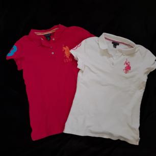 Säljer två piké tröjor från U.S Polo Club. Den ena är vit och den andra är rosa. En för 60kr och båda för 100kr. Köparen står för frakten.