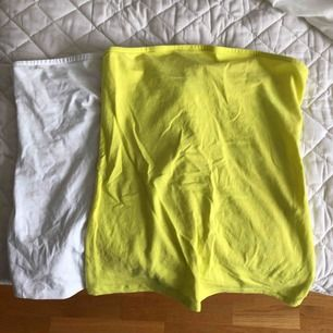 Tubtoppar från Spanien. Limegrön & vit. Bomull. Båda för 50kr.  Swish och fraktar endast. 15 frakt.