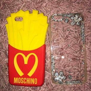 iPhone 6 mobilskal från moschino och en handmade swarovski mobil skal. En för 120 två för 200. Köparen står för frakt