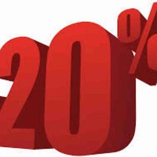 20% på allt!!!!!!!!!