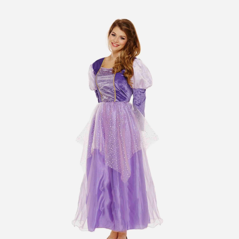 """Söt """"rapunzel"""" klänning till utklädnad (eller till vardags om du känner för det). Köpt på Partykungen för 249kr, använd en gång! Jag har knutit upp den glittriga kjolen, men den går såklart att släppa ner som på originalbilden. . Klänningar."""