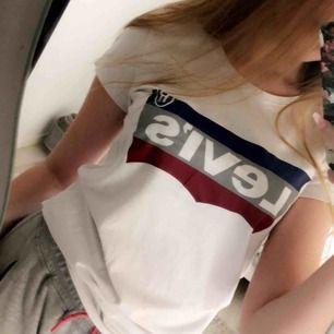 En super snygg Levi's t-shirt i storlek s. Använd några gånger. Nypris 259kr, jag säljer för 75 kr. OBS-katt finns i hemmet  ((Tyvärr fake))