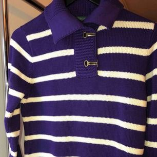 New without tag Cotton knit sweater with the hook button Color: Violet/purple Size: Small